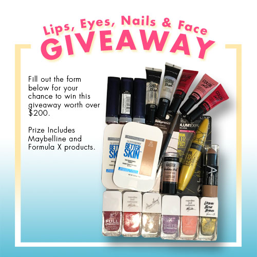 Lips, Eyes, Nails & Face Giveaway