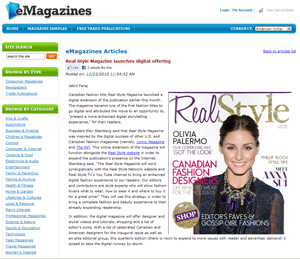 eMagazines features Real Style Magazine